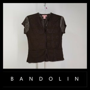 Bandolino Women Short Sleeve Top Blouse
